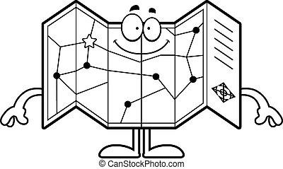 Happy Cartoon Road Map - A cartoon illustration of a road...