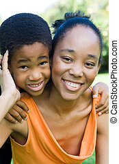 african american family - a loving african american family...