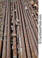 railroad ties - close up of railroad ties