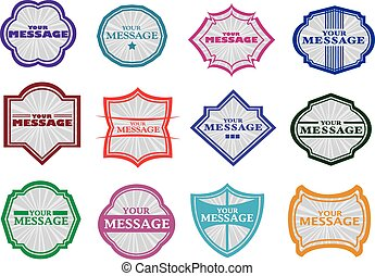 Vintage labels - Vector set vintage labels with spaces for...