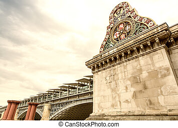 Blackfriars Bridge, London.