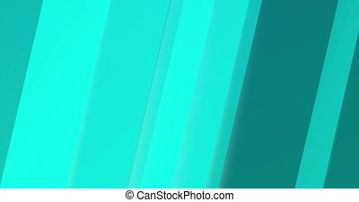 Abstract turquoise lines rotate around its geometric axis...