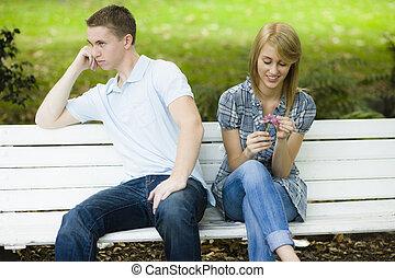 adolescents, Parc, deux