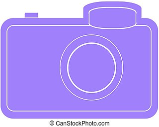camera purple silhouette - silhouette camera