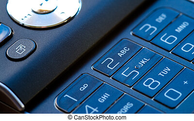 Mobile phone keypad with blue cast