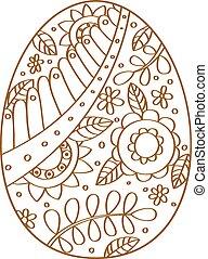 easter egg - Easter egg outline