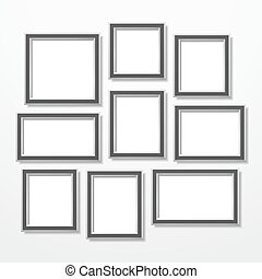 Frames set, vector eps10 illustration
