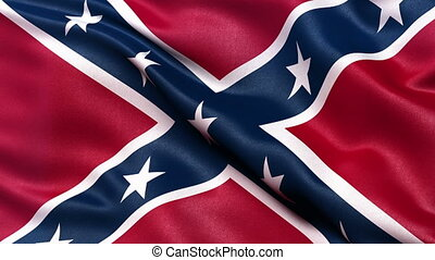 Confederate Battle Flag loop - Realistic Confederate Battle...