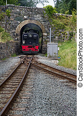Welsh Highland narrow gauge railway. Steam Locomotive...