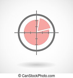 Crosshair icon with a pie chart
