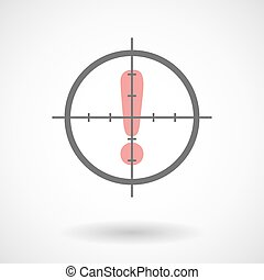 Crosshair icon with an exclamation sign