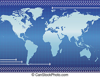 Background with continents - Illustration of Background with...
