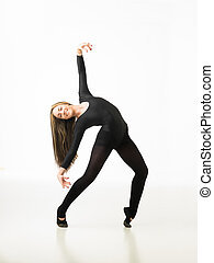 happy attractive dancer