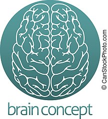 Abstract brain circle - An abstract illustration of a brain...