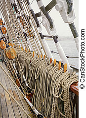 Running Rigging Alongside The Sailing Ship