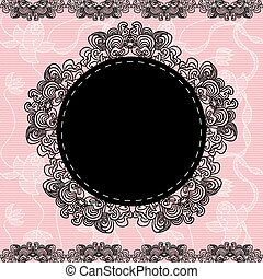 Elegant doily - Elegant doily on lace gentle background for...