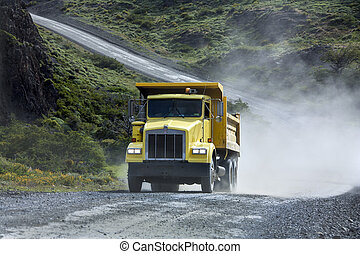 Transport - Heavy Truck - Gravel Road - Transport - A heavy...