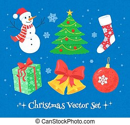 Christmas collection. - Vector colorful Christmas collection...