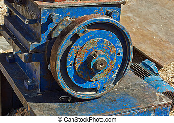 Flywheel transmission . - Flywheel transmission with an...
