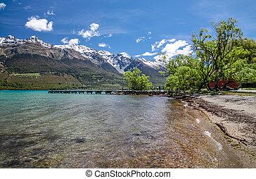 Lake Wakatipu at Glenorchy, Otago, South Island, New Zealand
