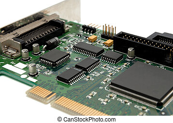 Fragment of a computer printed-circuit-board - The...