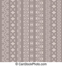 Lace ribbons vector fabric seamless