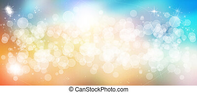 Gentle multicolored bokeh sparkly website header/banner