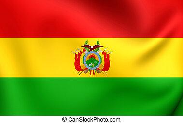 Flag of Bolivia. Close Up.