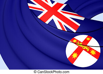 Flag of New South Wales, Australia.