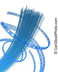 fiber wire - 3d rendered illustration of fiber optic cables...