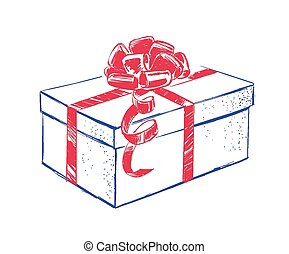 Gift box with bow.