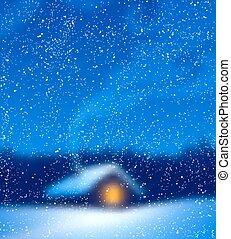 Blurred winter background.