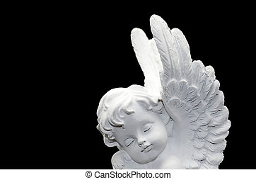 schöne, weißes, engelchen