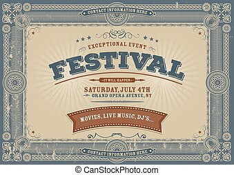 Vintage Fourth Of July Festival Bac
