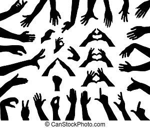 mãos,
