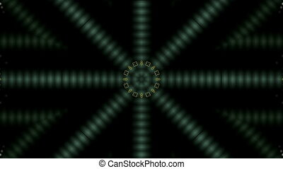 Symmetric bright colored shape move around the center and...
