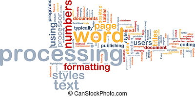 Word processing word cloud - Word cloud concept illustration...