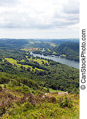 British Lake District elevated view - Elevated view of...