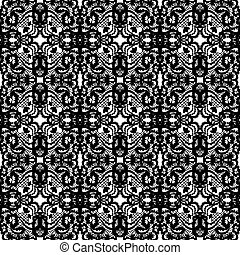 Lace vector seamless pattern. - Lace vector fabric seamless...