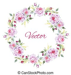 Nice rose wreath