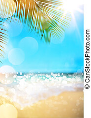verano, playa, background, ,