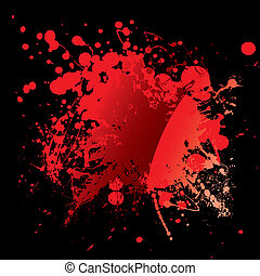 blood red black - Abstract blood red background with grunge...