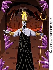 Hades welcomes you to the Underworld. No transparency used....