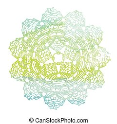 Elegant lacy watercolor doily. - Vector template. Invitation...