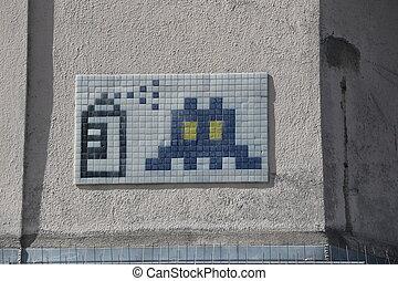 paris,  graffiti