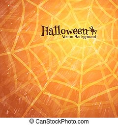 Spider web.  - Halloween background with spider web.