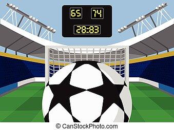 Vector football flat illustration