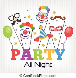 Vector party flat illustration