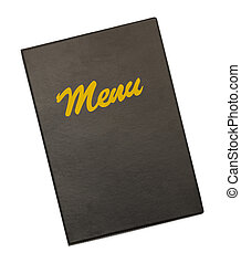 Plastic Menu Cover - Black Menu Cover With Gold Menu...