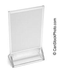 Plastic Table Top Menu - Table Top Upright Plastic Menu Sign...